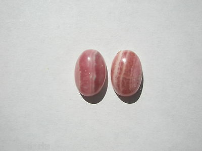 Natural Rhodocrosite Gemstone Oval Cabochons - 12x8mm - 2