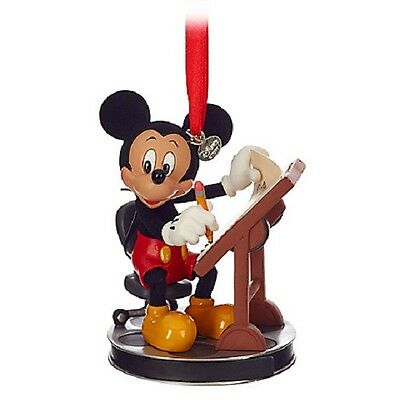 US Disney 2016 Mickey Animator Sketchbook Ornament NIB! Sold Out!!