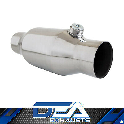 "Dea 2.5"" Inch 200 Cell Cpsi Metal Core High Flow Cat Converter Stainless Body"