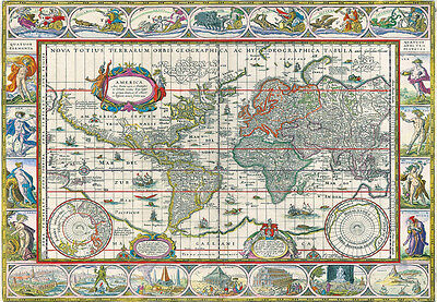 1000Piece Jigsaw Puzzle Ancient World Map Hobby Gift Home Decoration DIY