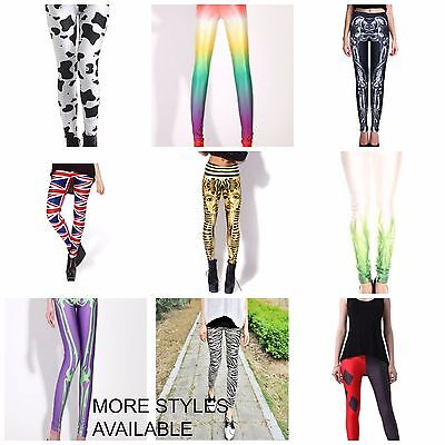Printed Tights, Crazy Colours, Printed  Exercise Pants Assorted Styles