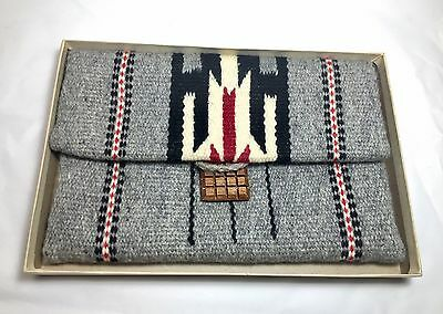 Chimayo Purse Hand Woven  Wool Blanket Native American Indian Original Box Mint