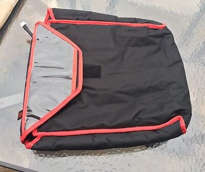 Pizza delivery bag blk/red 12V Car Plug In Electric Heated! Keeps Food Hot!!