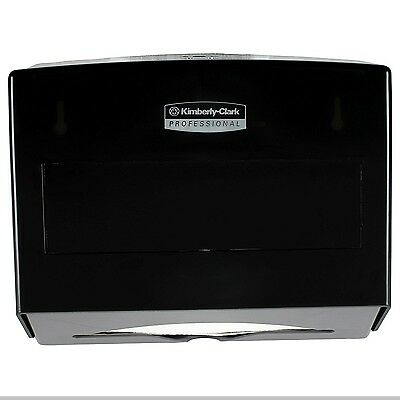 Scottfold Compact Paper Towel Dispenser, Small Towel Dispenser Stainless Black