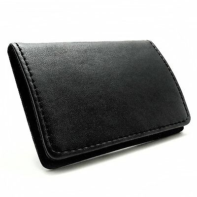 Rembrandt Leather Business Card Holder New Case Pocket Credit Id Wallet Black