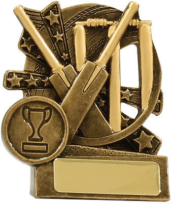 Cricket Trophy Award 90mm FREE Engraving