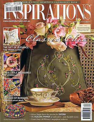 INSPIRATIONS MAGAZINE issue 63 2009 pattern attached BEAUTIFUL EMBROIDERY