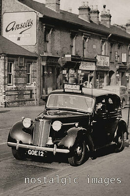 PHOTO TAKEN FROM A 1950's IMAGE OF BIRMINGHAM POLICE CAR ON PATROL