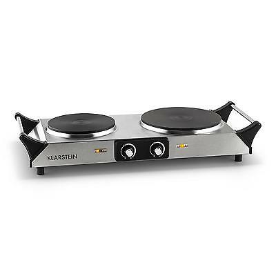 Double Hot Plate Hob Portable Stainless Steal Electric Cooker Warmer 2500W Power