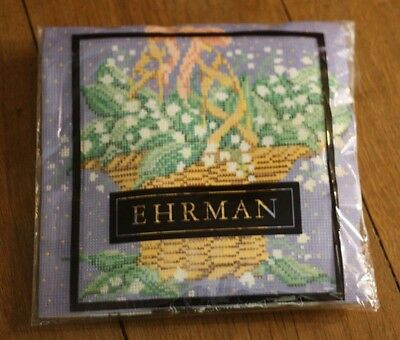 RARE BRIGGS Ehrman Needlepoint Tapestry Kit LILY OF THE VALLEY Candace Bahouth