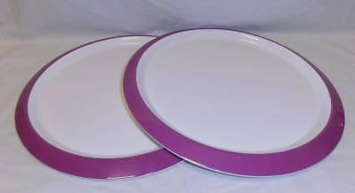 BNIP TUPPERWARE set of 2 Fiesta Charger Plates reduced