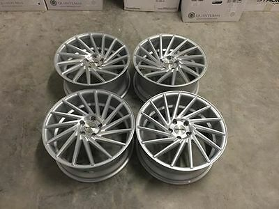 """19"""" STROM DS15 Directional Wheels - Silver Machined - VW / Audi / Mercedes 5x112"""