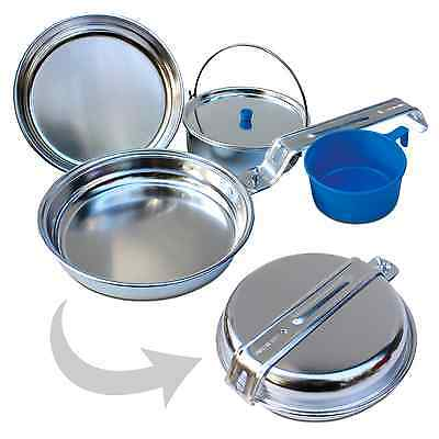 4 pieces Aluminum Cooking tableware Set for 1 Person Outdoor Camping Alu Dishes