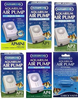 Interpet Aqua Air Pump AP Mini 1 2 3 4 Aquarium Fish Tank Cold Water Tropical
