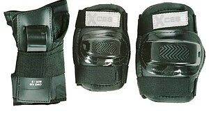 Xcess Protection Knee, Elbow Pad Set with Wrist Guards - Child, Black