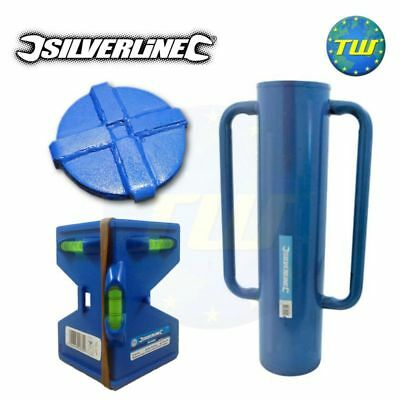 Silverline Steel Fencing Post Driver Rammer 15Kg with Magnetic Elastic Level