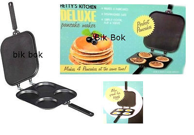 Pancake Pan Flip Perfect Breakfast Maker Eggs Frying Omelette Deluxe Non Stick