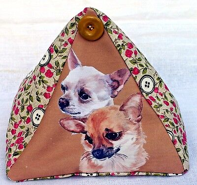 Chihuahua Dog New Fabric Cottage Design Doorstop Sandra Coen Artist Print