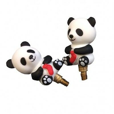 HiyaHiya Panda Shaped Cable Stoppers Size Small or Large - Choose your item