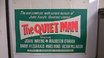 The Quiet Man Original UK Quad Movie Film Poster 1952 John Wayne