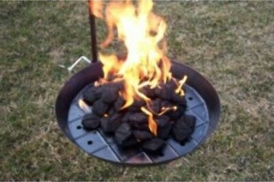 pioneer charcoal grill pan, BBQ, wild camping