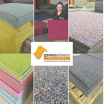 Carpet Tiles.  Flooring for home, office, shops and more. Mixed colours & design