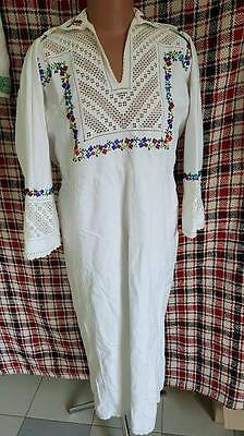 Ukrainian vintage embroidered dress, L-XL, handiwork, Bukovina region