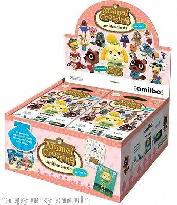 Nintendo Amiibo ANIMAL CROSSING SEASON 4 Trading Card Game Full Display Box!