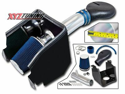 "4"" BLUE Heat Shield Cold Air Intake Kit + Filter For 94-01 Ram 1500 5.2L/5.9L s"