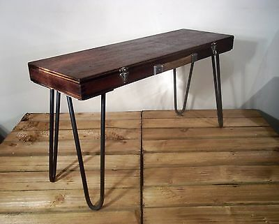 Unique Upcycled Vintage/Retro Rustic Industrial Side/Occasional/End/Coffee Table