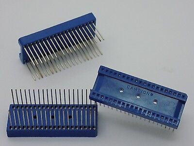1x Cambion 40 Pin - Wirewrap IC Socket PCB Board Solider Connector Adapter