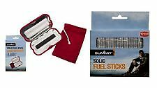 CHARCOAL POCKET HAND WARMER with 12 REFILL FUEL STICKS camping hiking