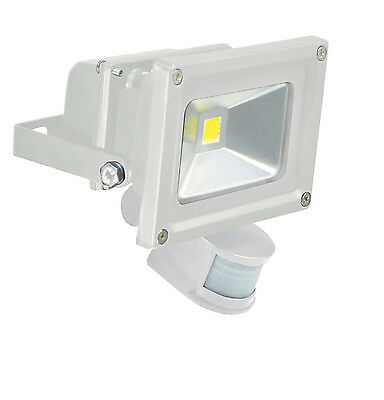 LED Flood Light With PIR and PIR Override Facility- 10W LED Colour White