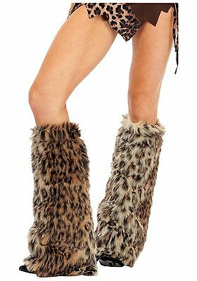 Furry Fur Legwarmers Nightclub Clubbing Ibiza Dancewear Various Colours One Size