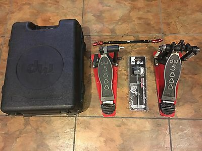 DW 5000 Double Kick Pedal w/ Case and brand new DWSM101 Beater