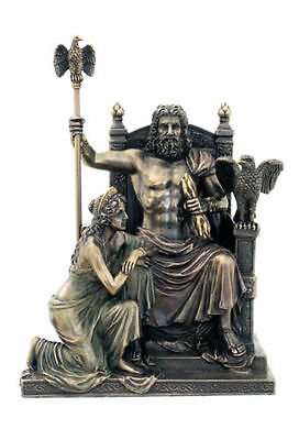 Zeus And Hera At The Throne Statue Sculpture Figurine