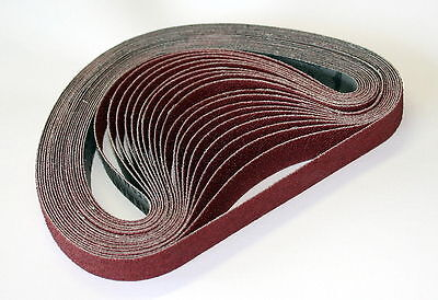 50mm x 1525mm Aluminium Oxide Cloth Sanding belts.  Price per 3