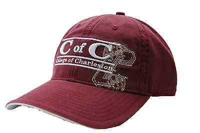 competitive price 3ad11 94233 College of Charleston Cougars The Game 3 Bar NCAA Wordmark Team Logo Cap Hat