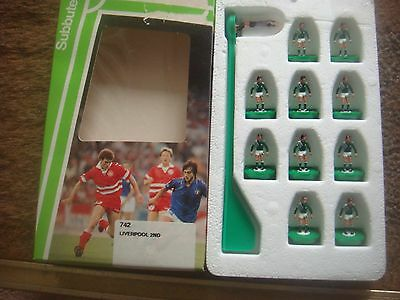 Boxed Subbuteo Football L/W Light Weight Team No 742 Liverpool 2nd