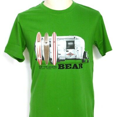 Bear T-Shirt Surfboards 2520 Gren Waimea Surf Skate Longboards Retro Vintage Usa