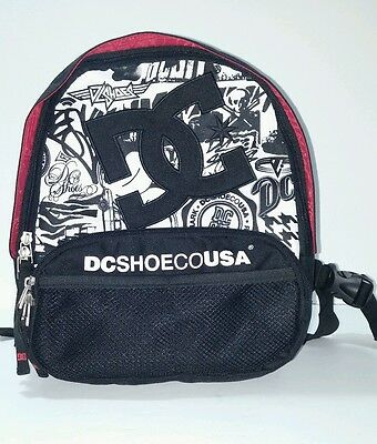 DC Shoe Co Backpack Small Red and Black  NEVER USED