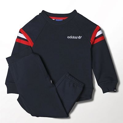 Infants Adidas Originals Navy Blue Tracksuit Baby Track Top Bottoms 9M - 4Y NEW