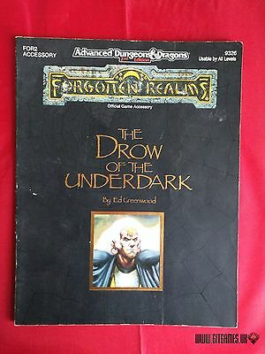 AD&D THE DROW OF THE UNDERDARK Advanced Dungeons Dragons Forgotten Realms TSR