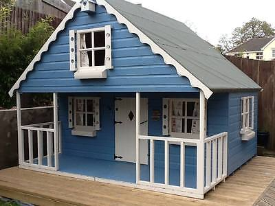 SHEDRITE'S 10x8  large 2 storey swiss chalet childrens playhouse INC PORCH