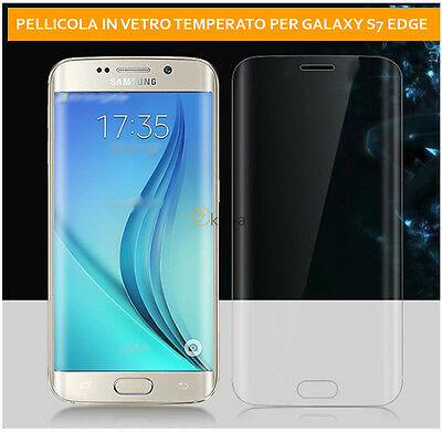 Film Tempered Glass Curved for Samsung Galaxy S7 Edge SCREENSAVER 100%