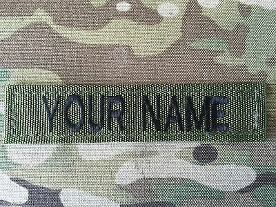 British Army Name Tape With Velcro Backing X 3