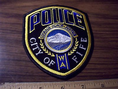 Police Patch's Fife  City Police Dept.  Gold Center Courage Honor Justice