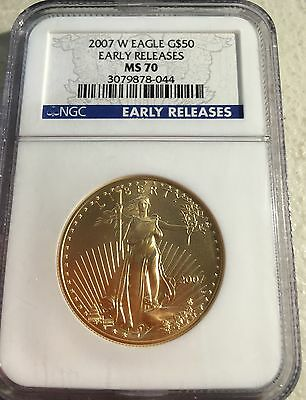 2007 W Burnished $50 Gold Eagle NGC 70 Early Release