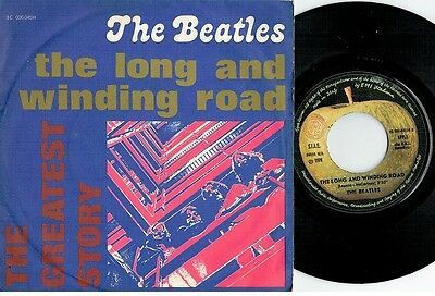 THE BEATLES The long and winding ro 45rpm 7' PS 1976 MINT- The Greatest Story RE
