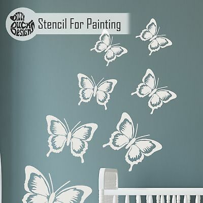SOPHIE BUTTERFLY Nursery Girls Room - Furniture Wall Stencil for Painting